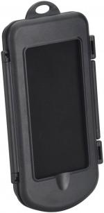 Smartphonehouder met spatwaterdichte box voor rollators, rolstoelen en scootmobielen